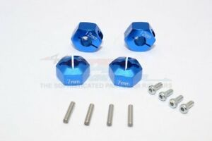 GPM Racing Traxxas 4-Tec 2.0 Blue 7mm Thick Wheel Hex Adapters GT010-12X7MM-B