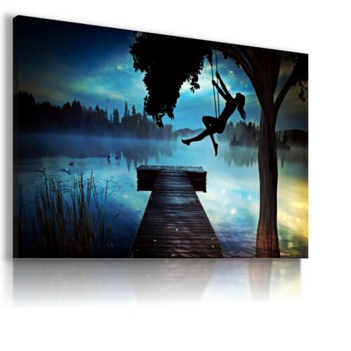 FANTASY WORLD FAIRY OWL BIRD GIRL Canvas Wall Art F232 NO FRAME  MATAGA .
