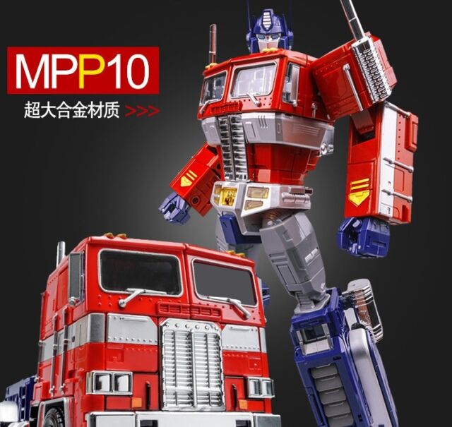 Transformers WEI JIANG alloy enlarged version MPP10 red Optimus Prime Commander