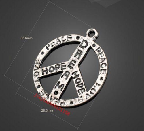 Peace sign 6PC Retro Tibetan Silver Jewelry Accessories PJ455