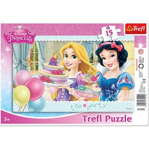 TREFL-puzzle-15-pieces-DISNEY-Princesses-Raiponce-Blanche-neige-3-NEUF