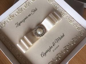 Luxury Wedding Invitations.Details About Handmade Luxury Wedding Invitation Regal Pearl Border Large Diamante