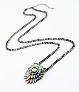 Collar-Colgante-Largo-Gota-collar-Rosa-Azul-Original-Multicolor-DDZ1