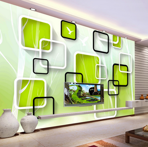 3D Grün Grid 647 Wallpaper Murals Wall Print Wallpaper Mural AJ WALL AU Kyra