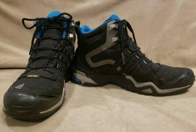 Women's US Size 9.5 ADIDAS TERREX 455 Gore Tex G97925 Boots Hiking Black Blue BC