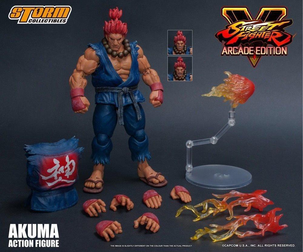 Street Fighter V Storm Collectibles Akuma Nostalgic Costume 1:12 Action Figure
