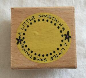 Studio-G-Rubber-Stamp-Wood-Base-Kolette-Hall-A-Little-Something-Flower