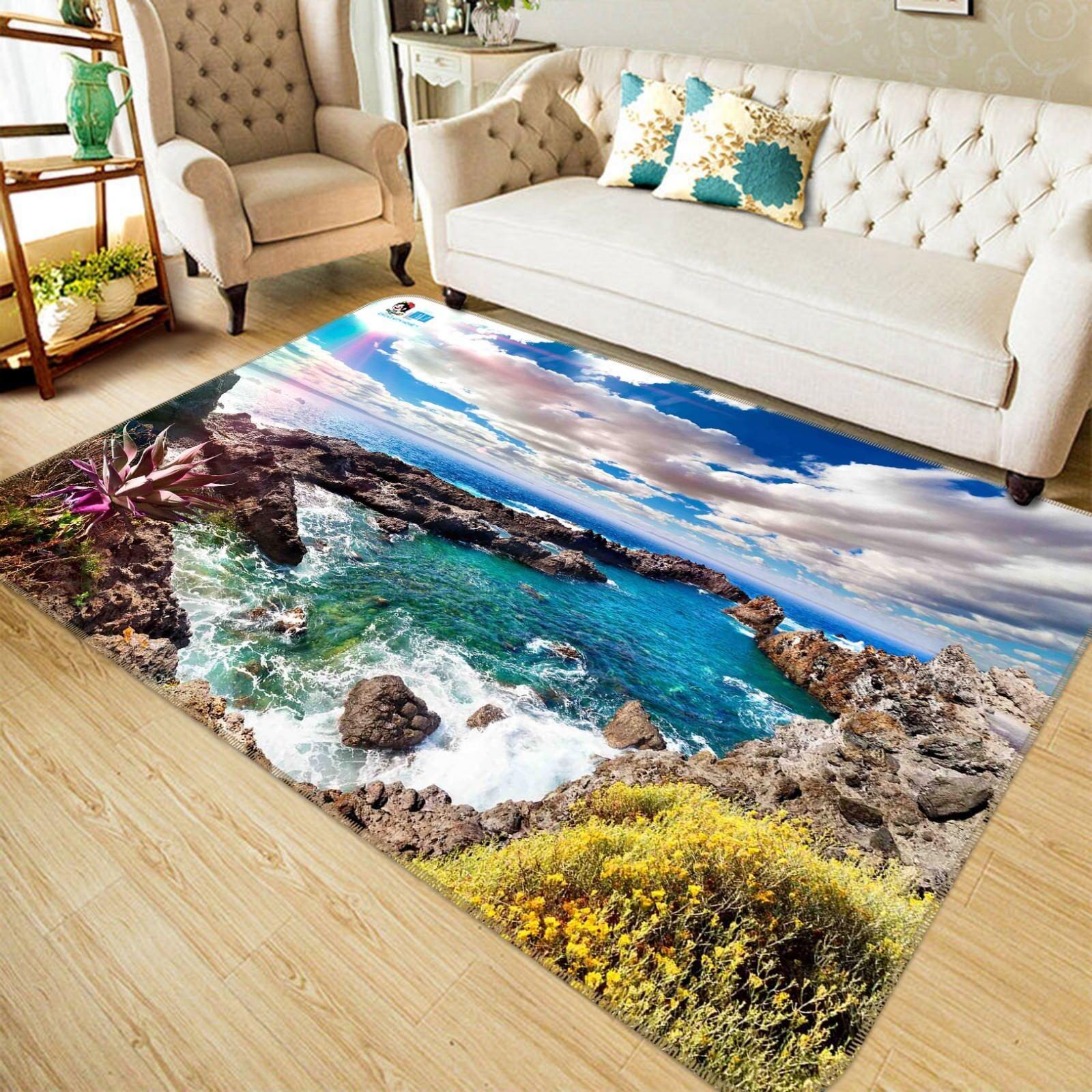 3d hermosa naturaleza 42 antideslizante alfombra de maletero calidad elegante alfombra