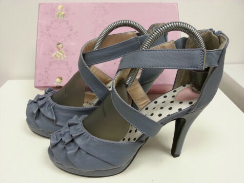 Ankle Uk Olivia £69 Blue Ruffled 6 Traffic Shoes 99 Strap Rrp People Heels x8OwqqBt