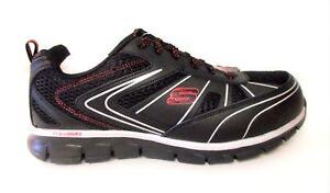 Skechers for Work Men's Synergy Fosston Work Shoe, Black/Red, 7 M US