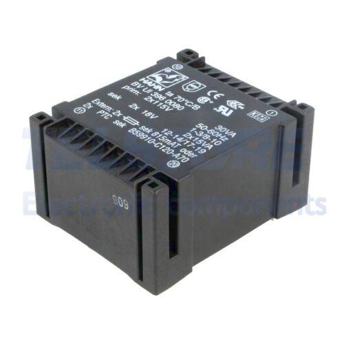 1pcs BVUI3960080 Transformator überzogen 30VA 115//115VAC 18V 18V 833mA 833mA
