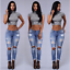 US-Women-Denim-Skinny-Long-Pants-High-Waist-Ripped-Stretch-Pencil-Jeans-Trousers thumbnail 4