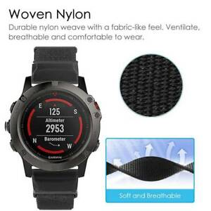 Details about Quick Release Nylon Loop Fastener Watch Band Strap for Garmin  Fenix 5X Fenix 5