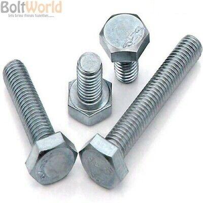 M5 set viti bulloni filettati completamente grado 8.8 acciaio ad alta trazione di zinco 933 5mm