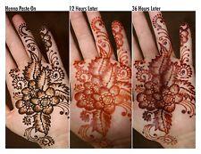 12 X 40g Henna mehndi Tatuaje Temporal Cono fresca Boda Diwali Eid Año Nuevo