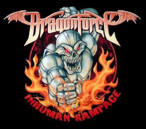 DRAGONFORCE cd lgo Inhuman Rampage ROBOT Official SHIRT XL New oop