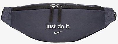 Laborioso Nike Just Do It Marsupio Girovita Bumbag Pack Cintura Marsupio Marsupio Grigio Ferro-mostra Il Titolo Originale