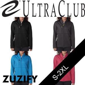 UltraClub Ladies Fleece Jacket with Quilted Yoke Overlay. 8493
