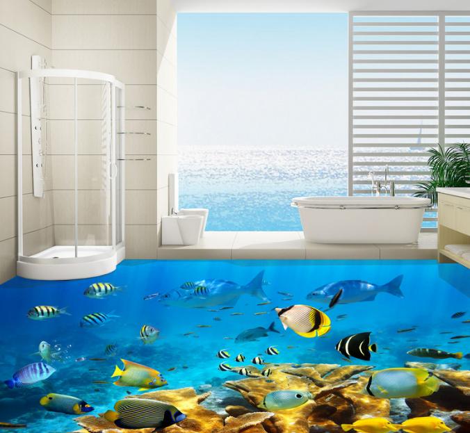 3D Tropical Fish Sea 895 Floor WallPaper Murals Wall Print Decal AJ WALLPAPER US