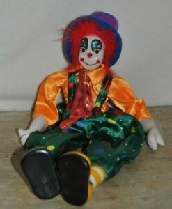 Vintage Poseable Porcelain Hobo Clown Doll 7