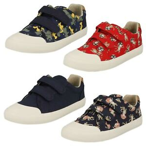 0b595f909d1 Image is loading Boys-Clarks-Comic-Air-Canvas-Shoes