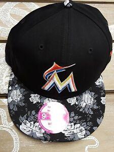 New Era 9Fifty Women's Snapback Miami Marlins Snapback Hat Bloom Limited Edition