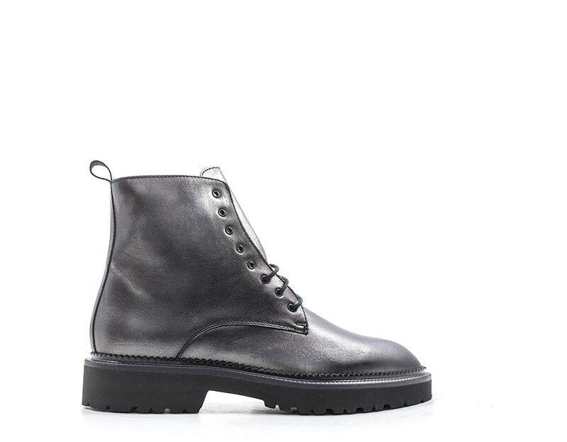 MUJER mujer gris botas de cuero natural 86R2-AN 86R2-AN 86R2-AN  marcas en línea venta barata