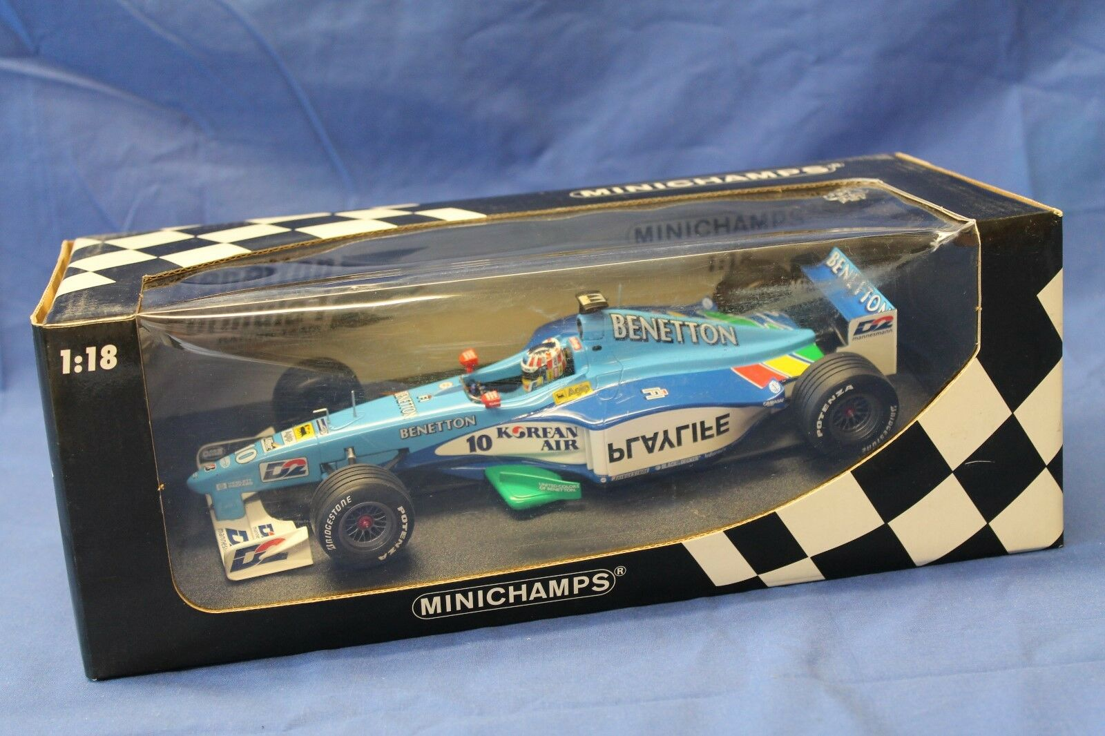 Minichamps 1 18 Benetton Formula 1 Playlife B199 A Wurz 1999 180 990010