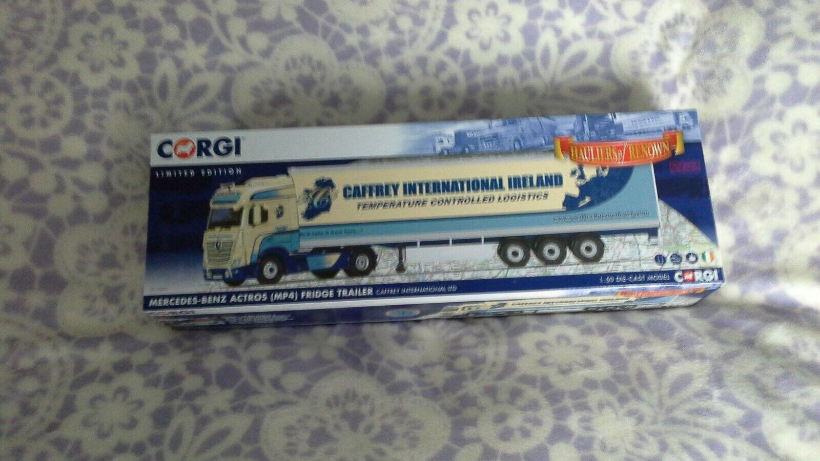 CORGI CAMION CC15803 CAFFREY INTERNATIONAL Ltd MERCEDES ACTROS MP4 échelle 1 50