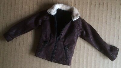 Custom 1//6 scale Leather Jacket Fit walking dead 5 Rick Grimes Damtoys body head