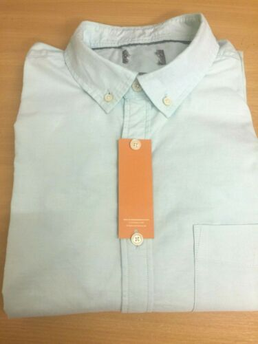 Ex M/&S PURE COTTON LAUNDERED OXFORD Button Down Mens SHORT SLEEVE SHIRTS