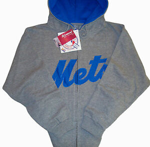 buy online 6b7e0 744ed Details about New York Mets MLB Tradition Full Zip Hoodie Gray Women's Plus  Size 1X NWT