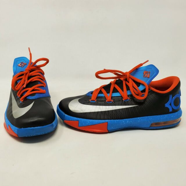 hot products classic style watch NIKE KD VI 6 BLACK SILVER ORANGE BLUE THUNDER AWAY SIZE 4.5 YOUTH ...