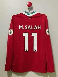 LFC Long Sleeves Home Vintage Soccer Jersey #11 M.SALAH for Men Size XL