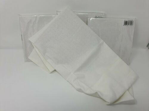 White 45/% Cotton 55/% Polyester CLEARANCE STOCK  Pillow Case Size 40 X 80 CM