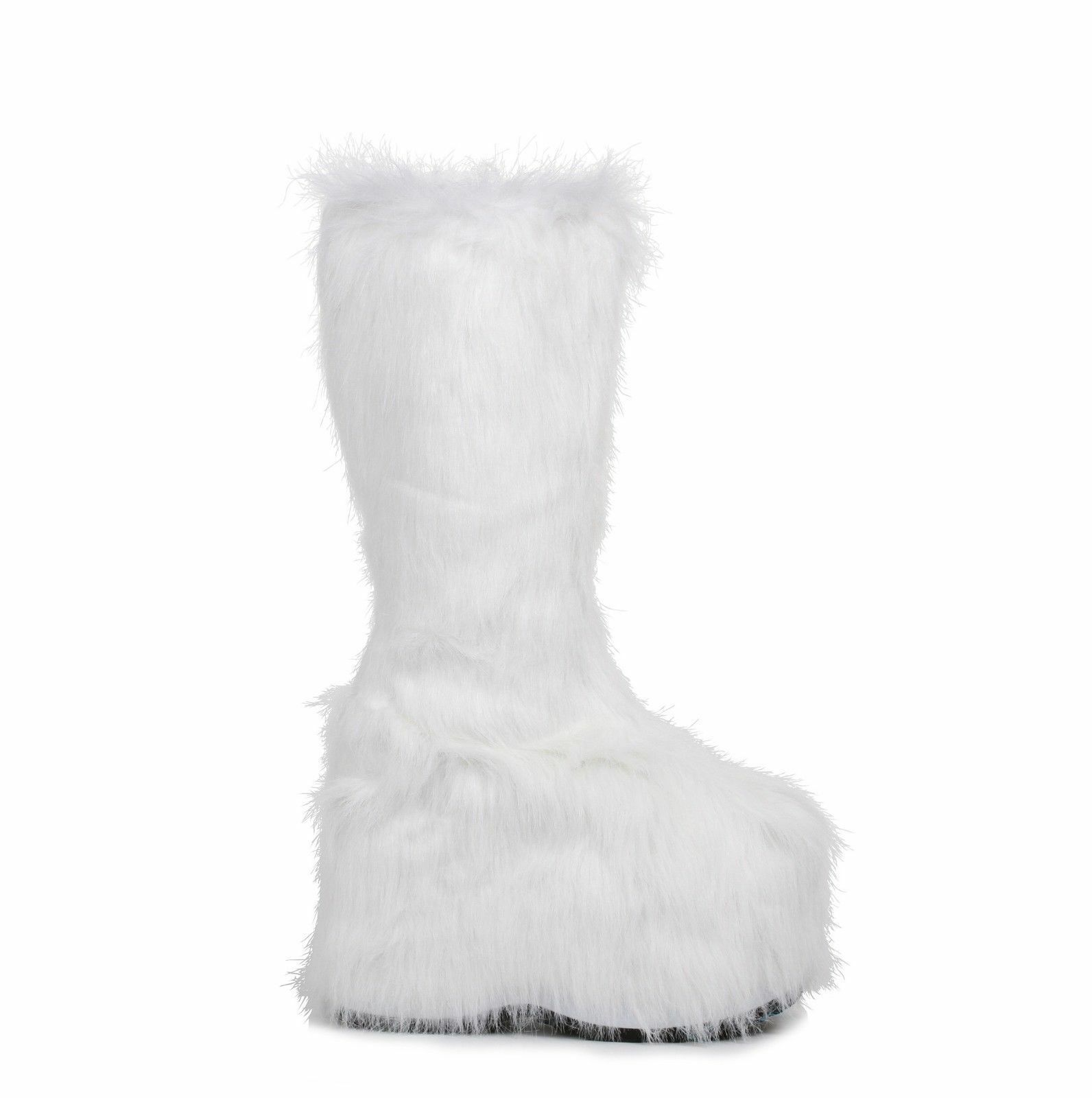Black Fur Yetti Snow Monster Monster Monster EDC Rave Goth Platform GoGo Boots Womans ALL Sizes 292166