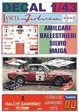 DECAL 1/43 LANCIA FULVIA HF A.BALLESTRIERI R.SANREMO 1973 DnF (07)