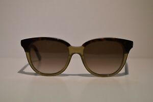 a014f2a3c534c Novo AUTÊNTICO Feminino Yves Saint Laurent Havana Taupe Óculos de ...
