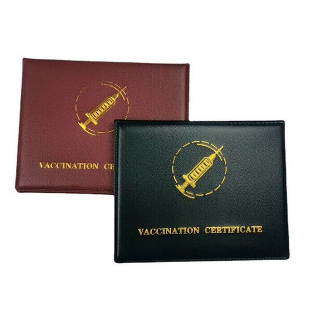CDC Vaccine Card Holder PU Leather To Protect Your CDC Vaccine Card Bag