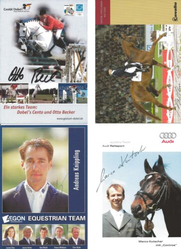 Knippling Nadine Capellmann Otto Becker 4 Autogramme Reiten 14-3 Mario Kutscher