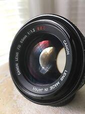 *Exc++++* Canon FD 55mm F1.2 SSC SLR Manual Focus Lens