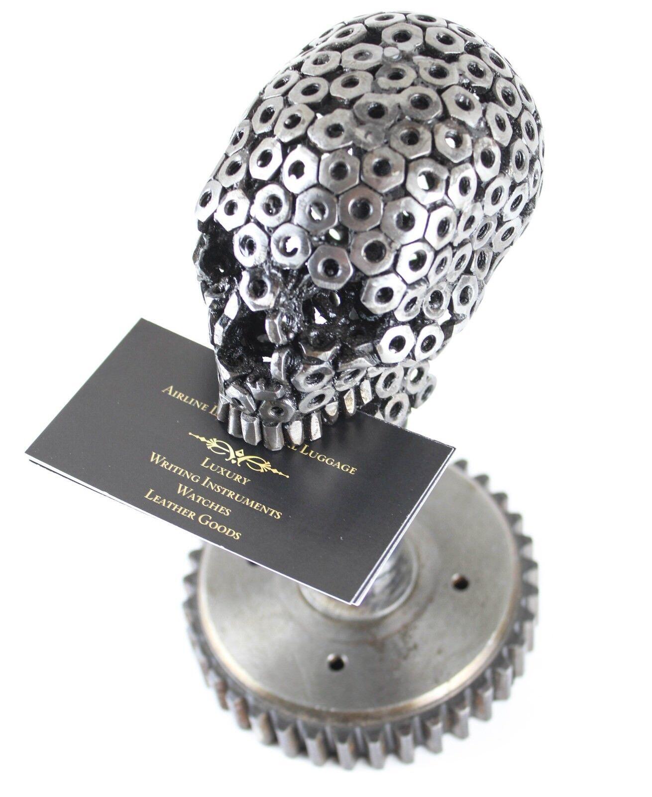 Escultura De Cráneo-Decoración de Escritorios-Soporte de tarjeta