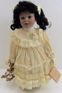 LIMITED-EDITION-PORCELAIN-15-034-AFRICAN-AMERICAN-BLACK-BRADLEY-039-S-COLLECTIBLES-DOLL