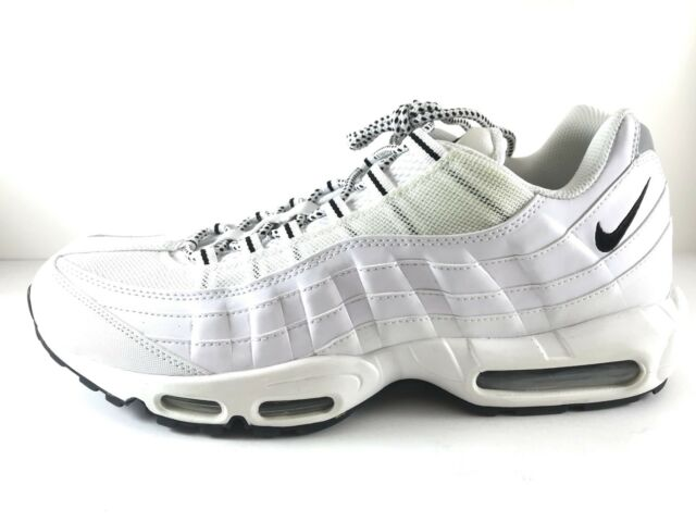 the latest 1a7a8 f15cd Nike Air Max 95 All White Black Running Oreo 609048-109 Size