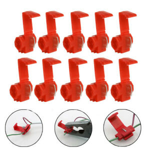 50x-Red-Electrical-Cable-Connectors-Fast-Quick-Splice-Lock-Wire-Terminals-Crimp
