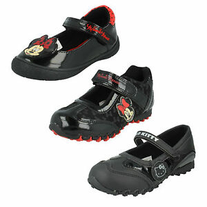 2ad980483 GIRLS INFANT SIZE MINNIE MOUSE HELLO KITTY RED CASUAL BLACK FLAT ...