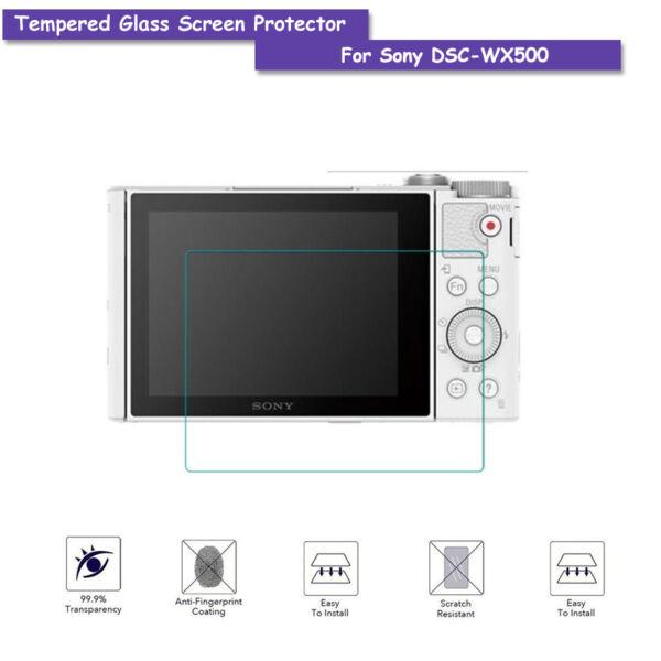 9 H Protection D'écran Verre Trempé Pour Sony Dsc-wx500 Accessoires Caméras La Qualité D'Abord