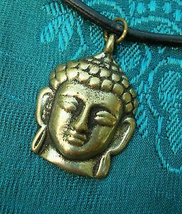 Analytisch Sehr Schönes Buddha-kopf Amulett Aus Tibet Sehr Massiv