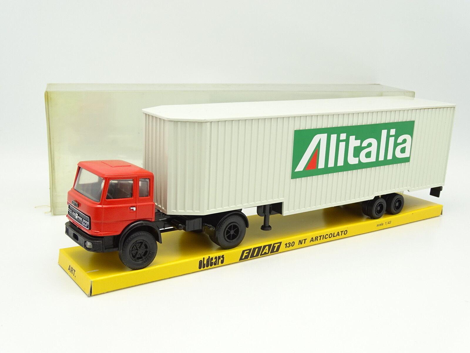 Old Cars 1 43 - FIAT 130 NT Semi-remorque ALITALIA