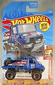 2019 Hot Wheels #7 HW Hot Trucks Mercedes-Benz Unimog 1300 Diecast & Toy Vehicles
